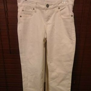 Kut from the Kloth SIENNA SKINNY Size 4 White Jean